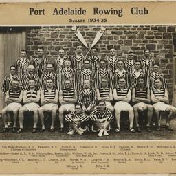 Port Adelaide Rowing Club 1934 to 1935 season