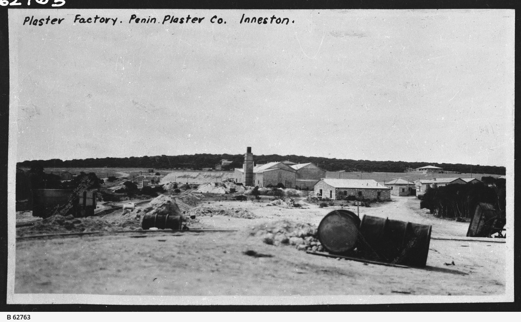 Plaster depot at Inneston, South Australia