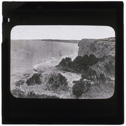 View of headland and ocean