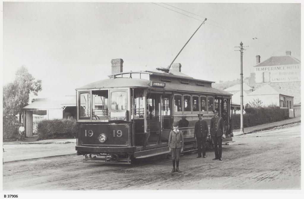Tram at Albert Street Terminus