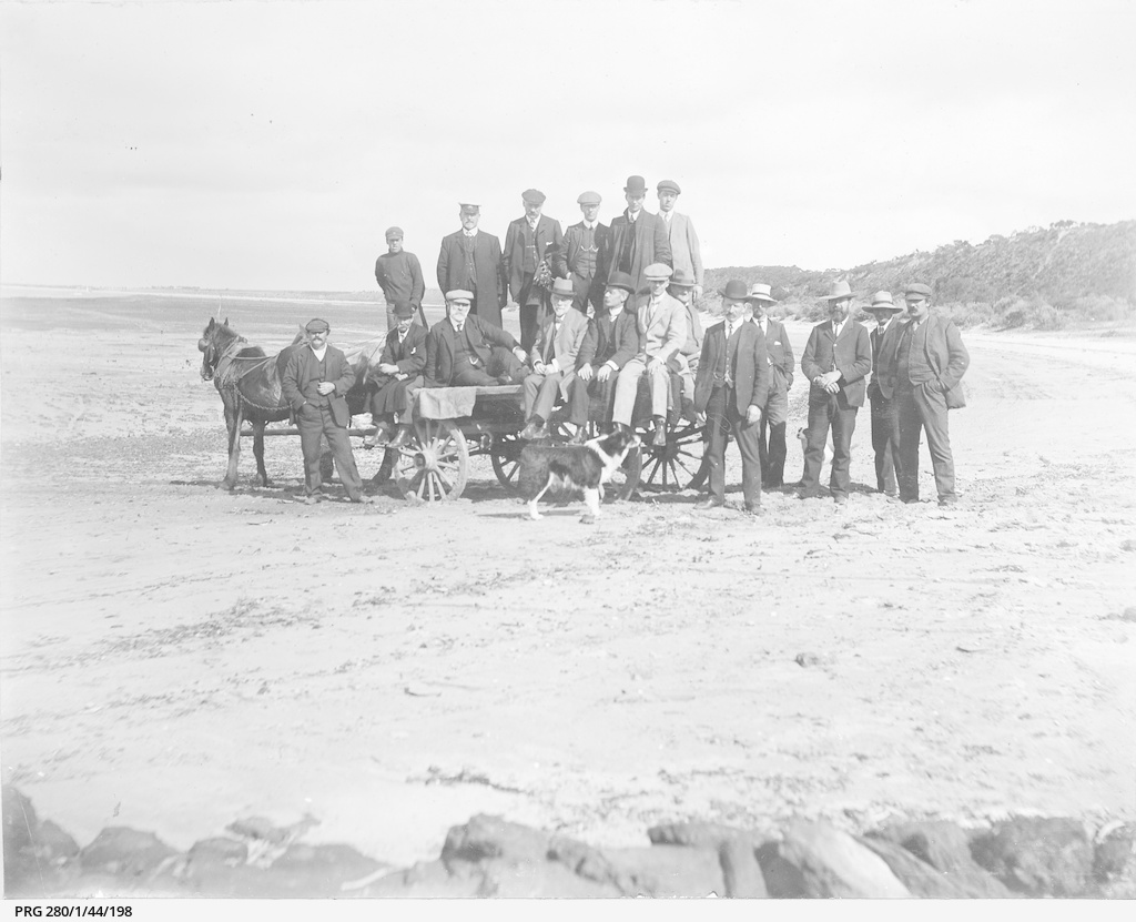 Canadian visitors on a beach near Port Julia