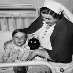 Child and nurse at Seaforth Home, Somerton
