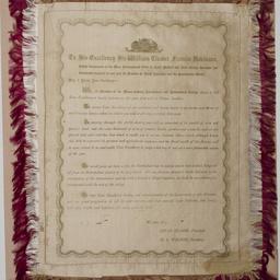 Address presented to Governor Robinson