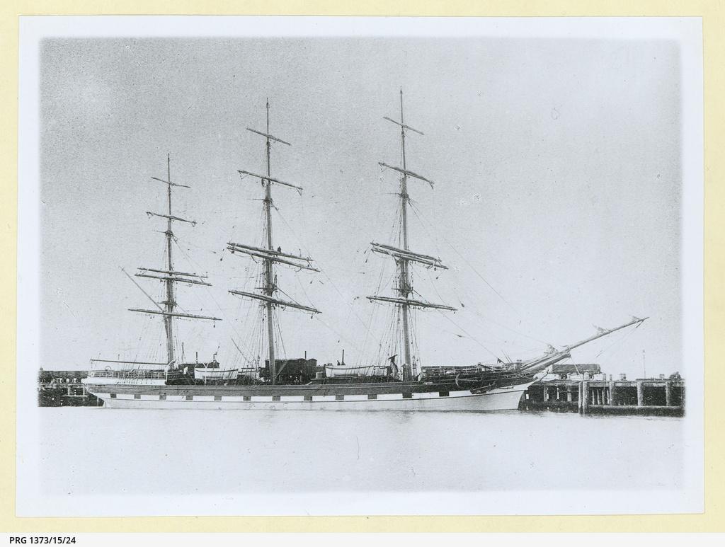 The 'Loch Shiel' docked in an unidentified port