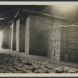 Interior of a wheat shed