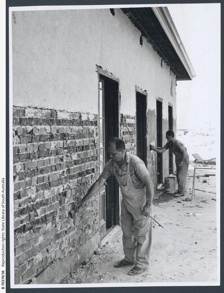 'The Grange' walls under repair