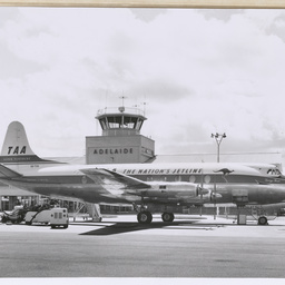 Vickers Viscount at Adelaide Airport