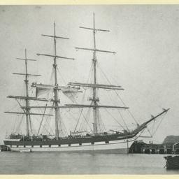 The 'Loch Ryan' docked in an unidentified port