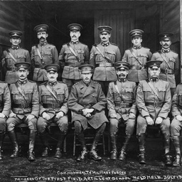 Members of the first Field Artillery School