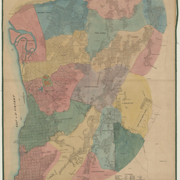 Map of the County of Adelaide and surrounding districts [cartographic material] / prepared from the Government plans and carefully revised after the newest surveys by Robt. Stephenson, surveyor, Exchange Colonnade