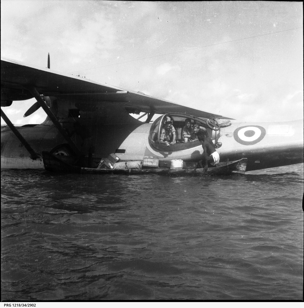 02. Unloading supplies from a Catalina Seaplane