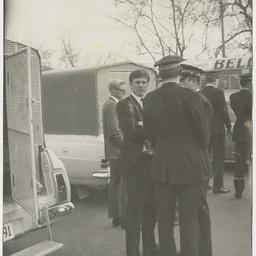 Police at an anti Vietnam War demonstration