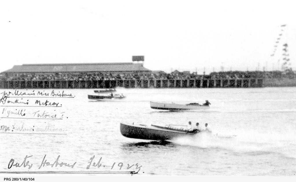 Motor-boat racing at Outer Harbor, South Australia