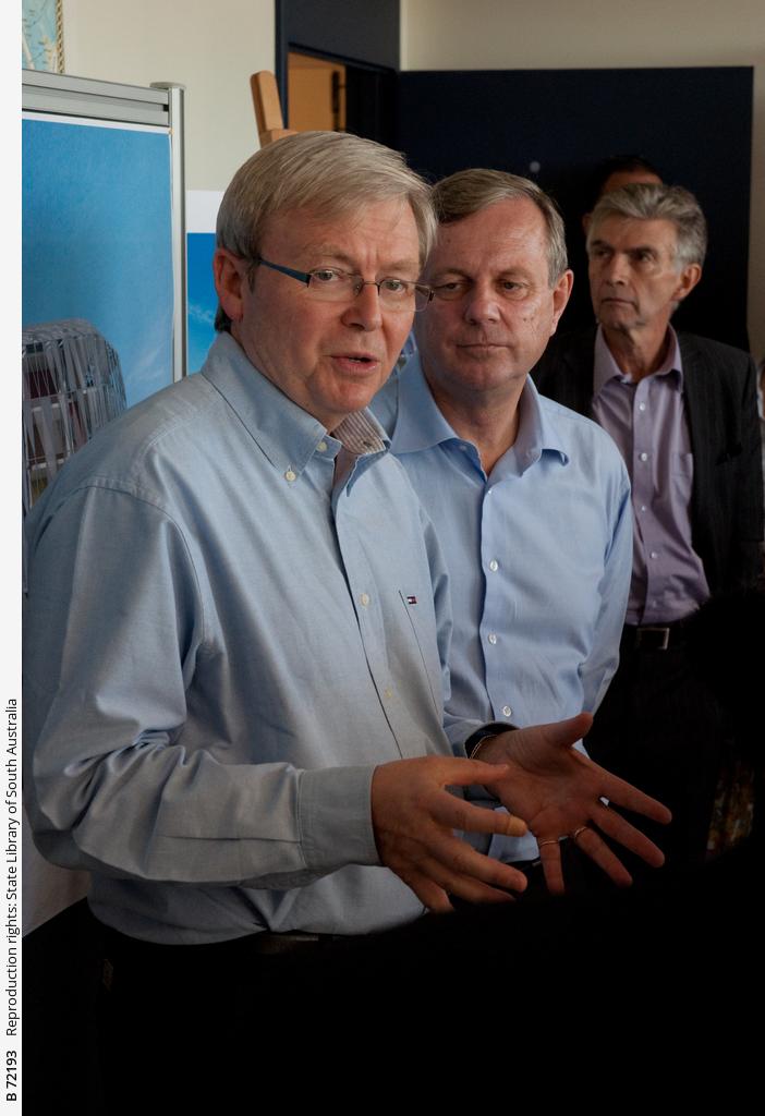 Kevin Rudd, Mike Rann and John Hill