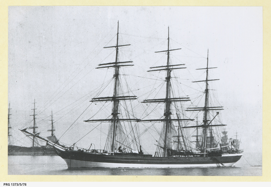 The 'Hereward' in an unidentified harbour