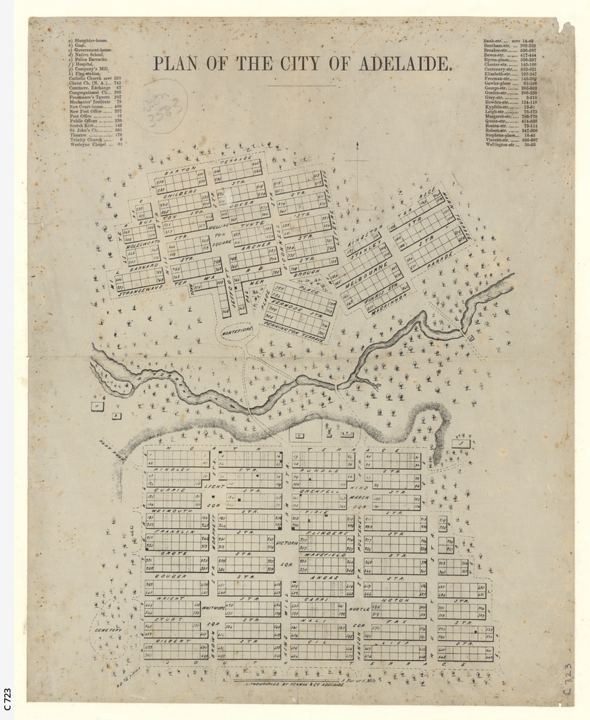 Plan of the City of Adelaide [cartographic material]
