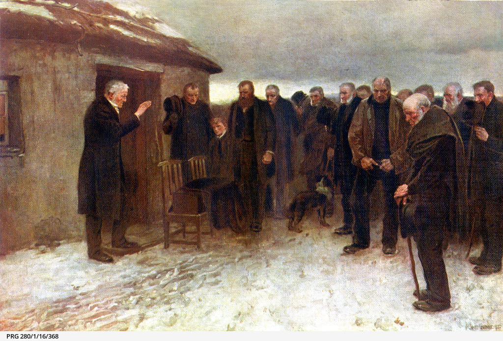 Sir James Guthrie painting 'A highland funeral'