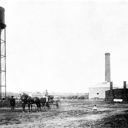 Pumping station and water tower near Wilcannia