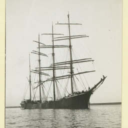 The 'Austrasia' at anchor