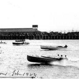 Motor-boat racing at Outer Harbor, South Australia