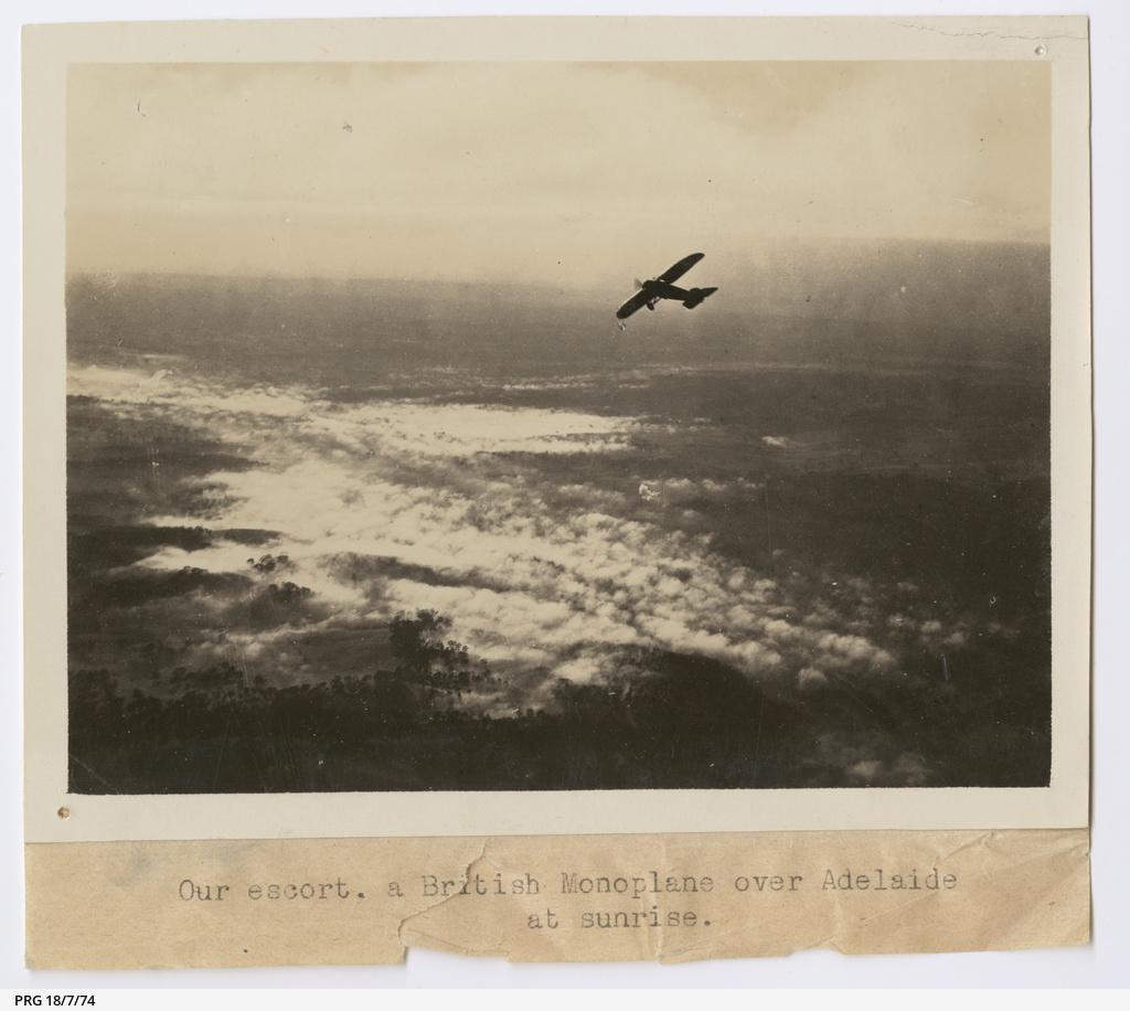British monoplane escorting the Vickers Vimy
