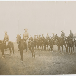 Mounted army personnel
