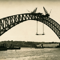 Sydney Harbour Bridge arches joined together