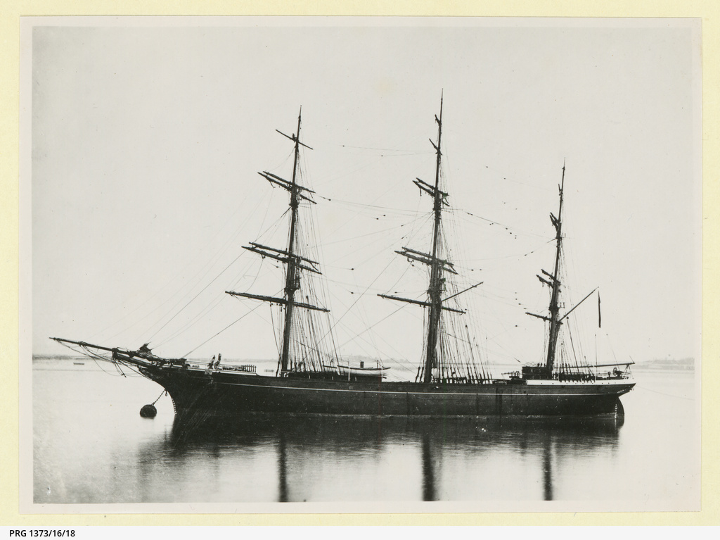 The 'Eastern Monarch' moored in an unidentified port