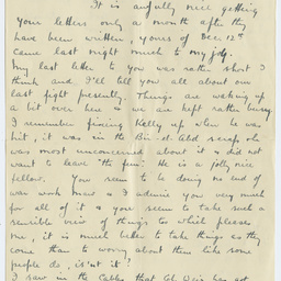 Letter from Ross Smith in Egypt camp during World War I, to his mother