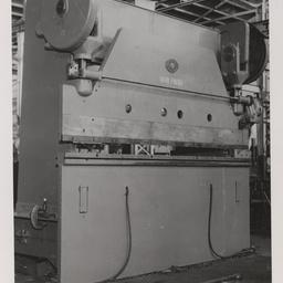 Mechanical press brake.