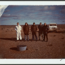 Recovery Team with vehicles at Woomera Rocket Range