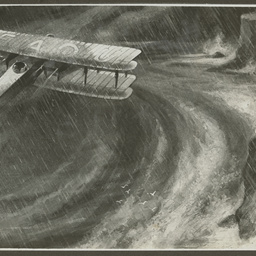 Vickers Vimy in a storm.