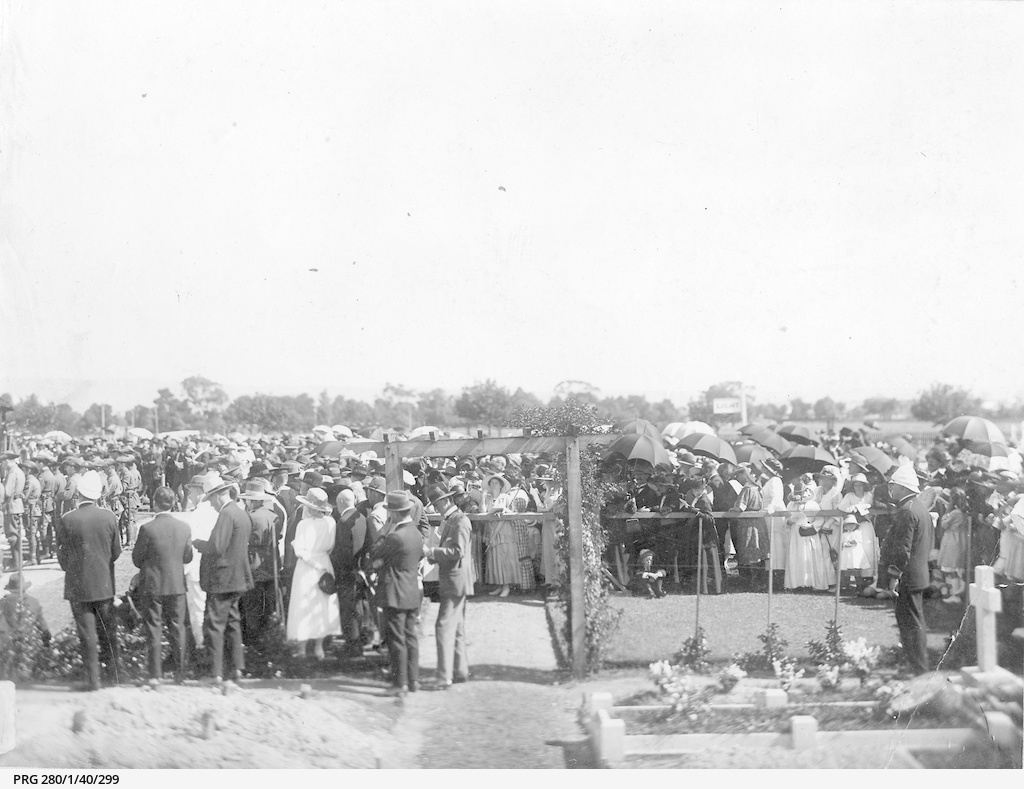 Dedication of a military cemetery area