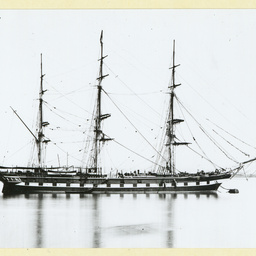The 'Essex' moored in an unidentified port