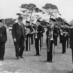 Police band being inspected