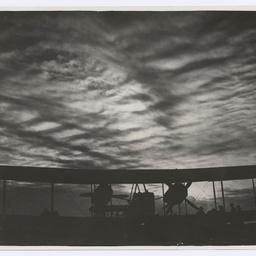 Sunset behind Vickers Vimy, Baghdad