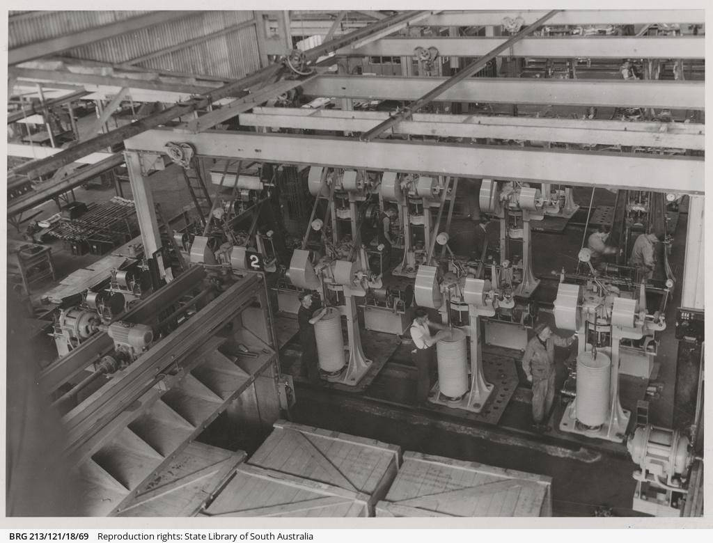 A batch of Cordite presses.
