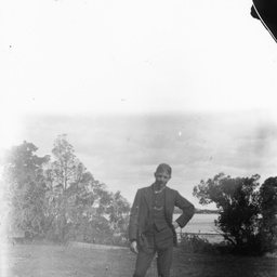 Young man in rural setting