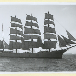 The 'Port Caledonia' under sail