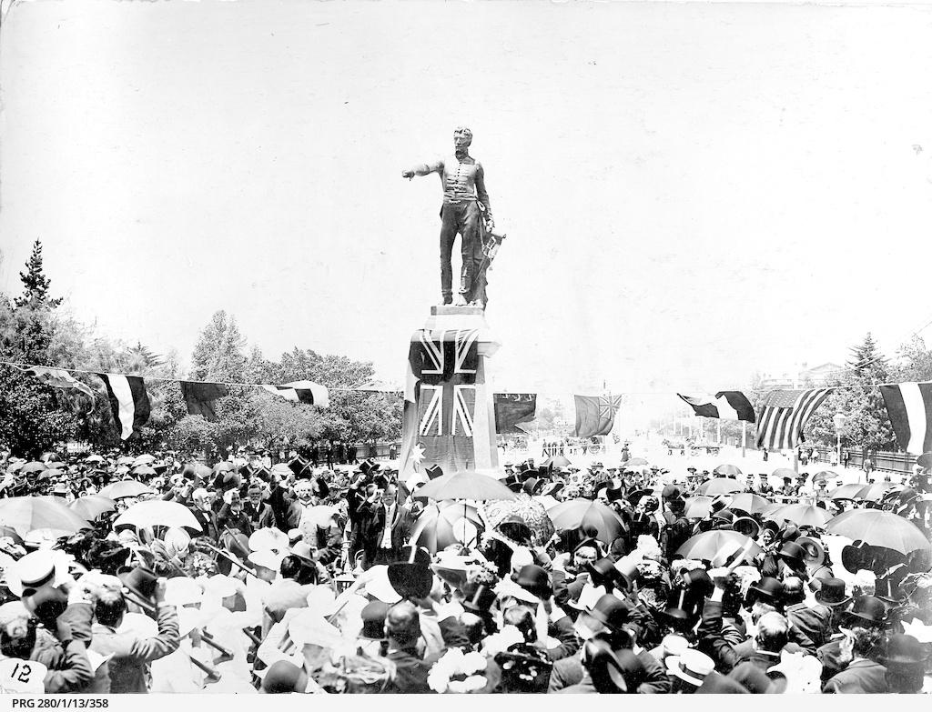 Unveiling the Colonel Light statue, Victoria Square, Adelaide