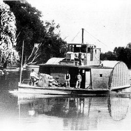 Paddle steamer Adelaide in Echuca area