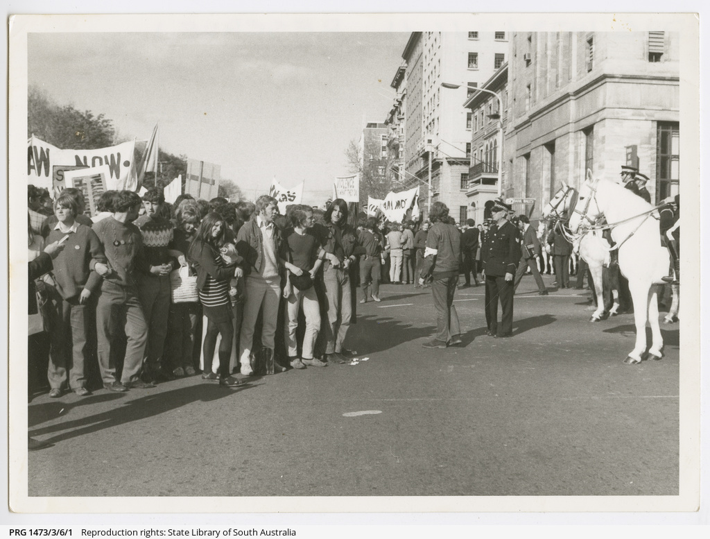 Anti Vietnam War demonstrators
