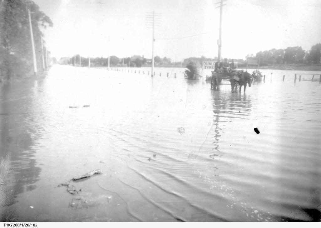 Floods along Henley Beach Road, Adelaide