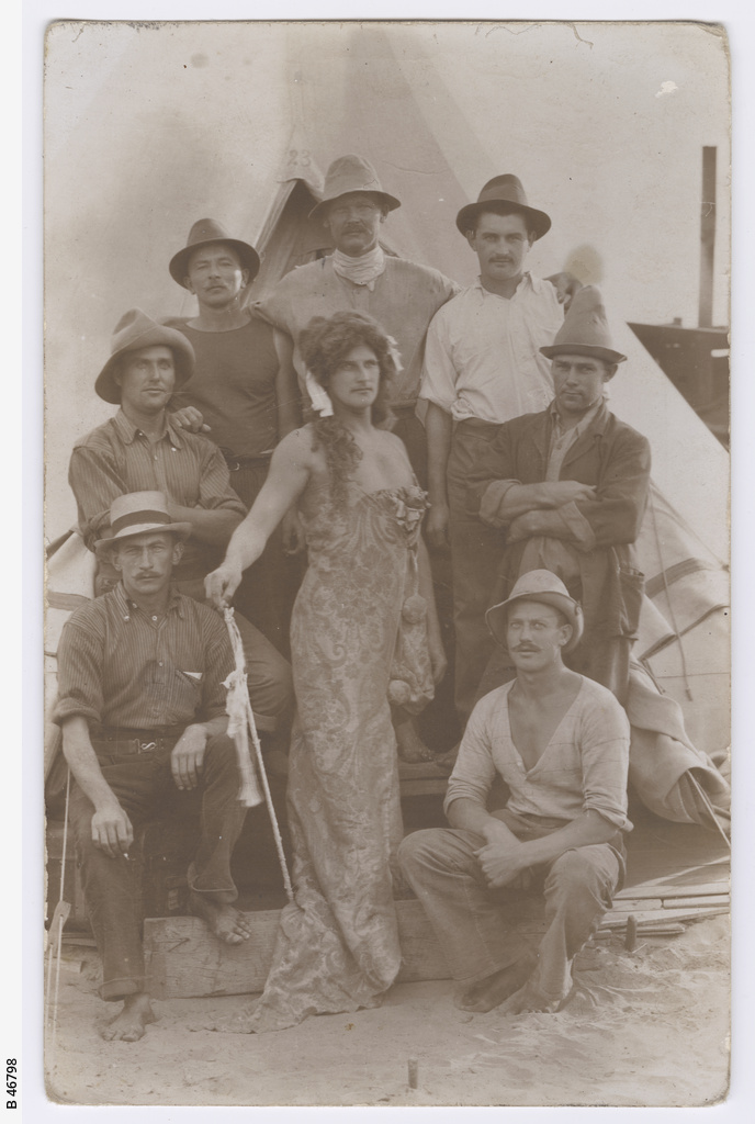 Internees at the camp