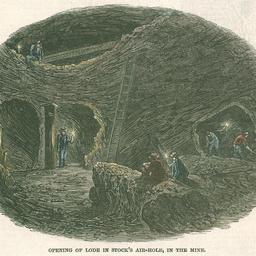 Interior scene in the Burra Mine