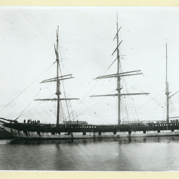 The 'Rialto' docked in an unidentified port
