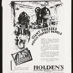 Holden's Motor Body Builders Limited advertisement