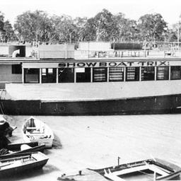 Photographs of river boats
