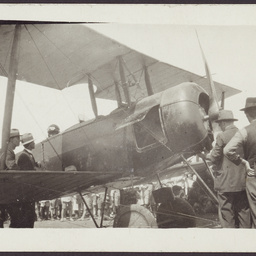 Harry Butler and plane at Wayville