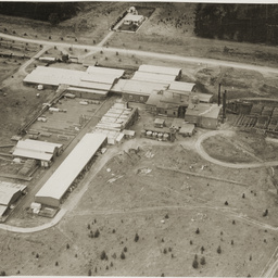 Aerial view of Mount Burr mill